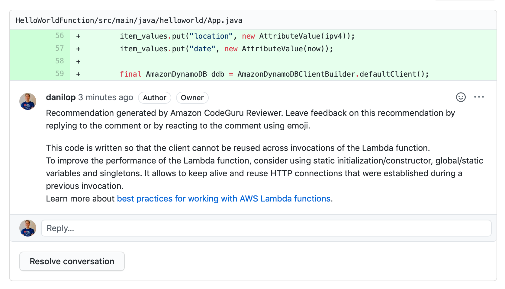 github-code-review-recommendation