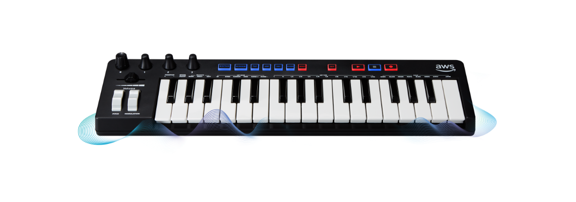 AWS DeepComposer keyboard