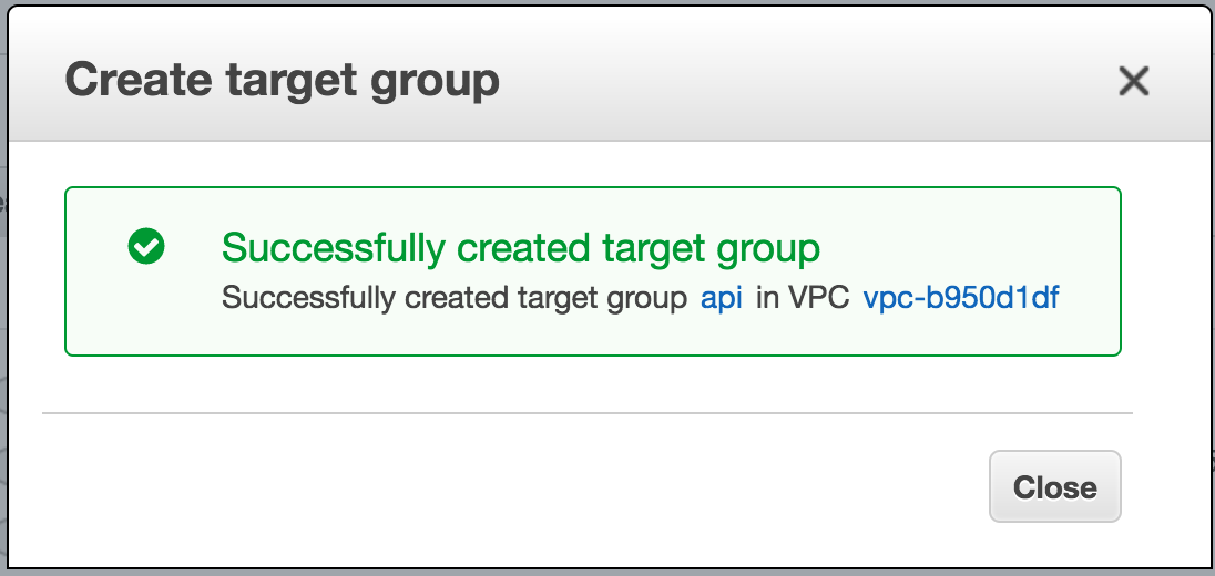 create target groups