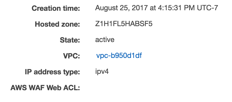 vpc attribute
