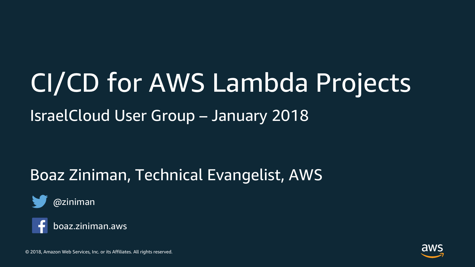 Boaz Ziniman slides - CI/CD for AWS Lambda Projects