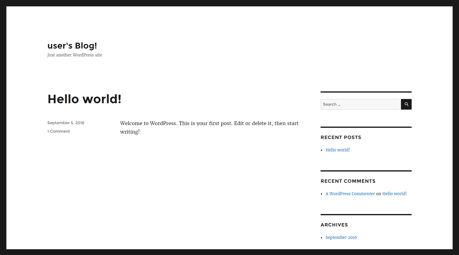 Launch a WordPress Website - Hello World