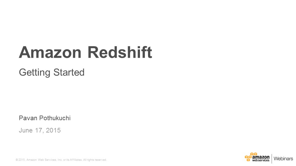 Getting_Started_Amazon_Redshift_Jun_2015_v2