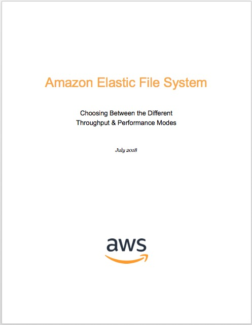 Amazon Elastic File System (EFS) | Cloud File Storage | Choosing