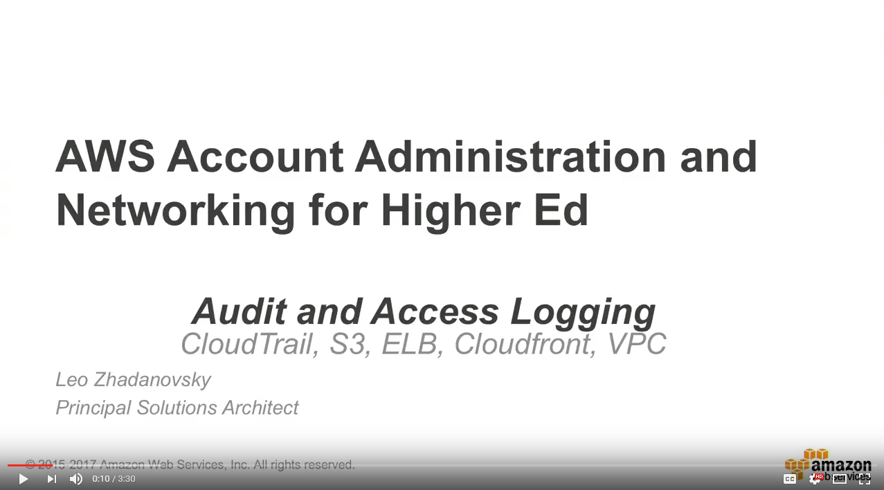 Audit and Access Logging for Education