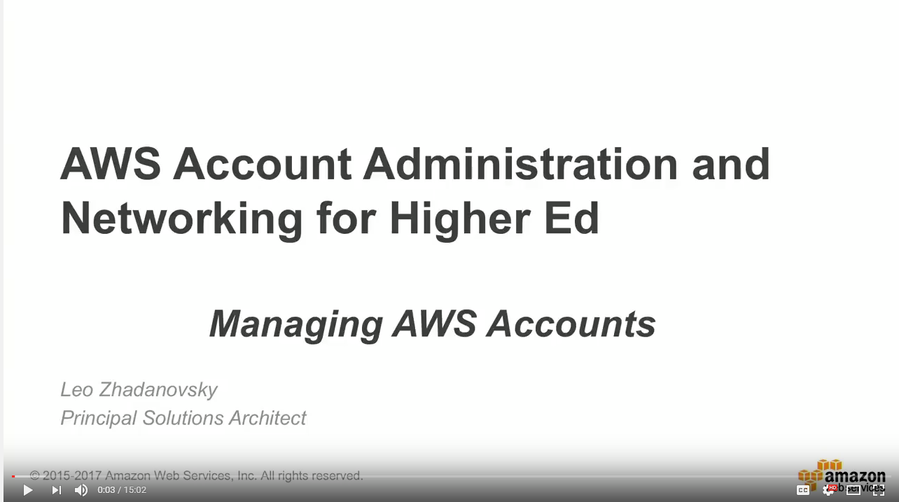 Managing AWS Accounts