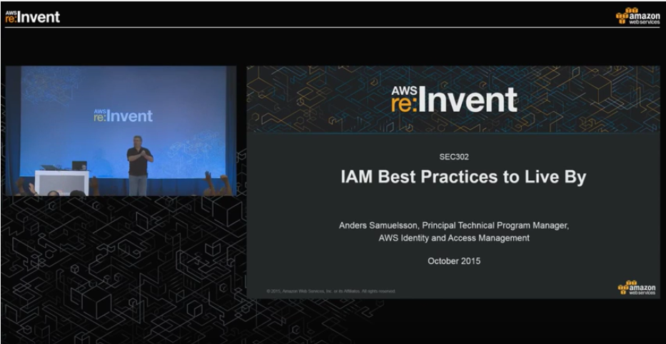 re:Invent Video - Idendity Management Best Practices