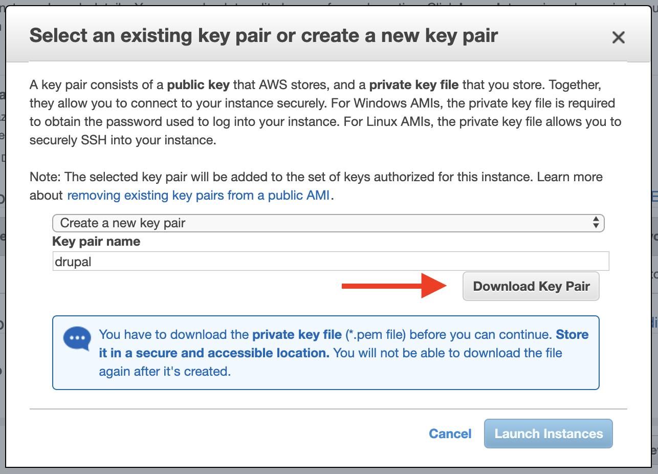 amazon ec2 download key pair again
