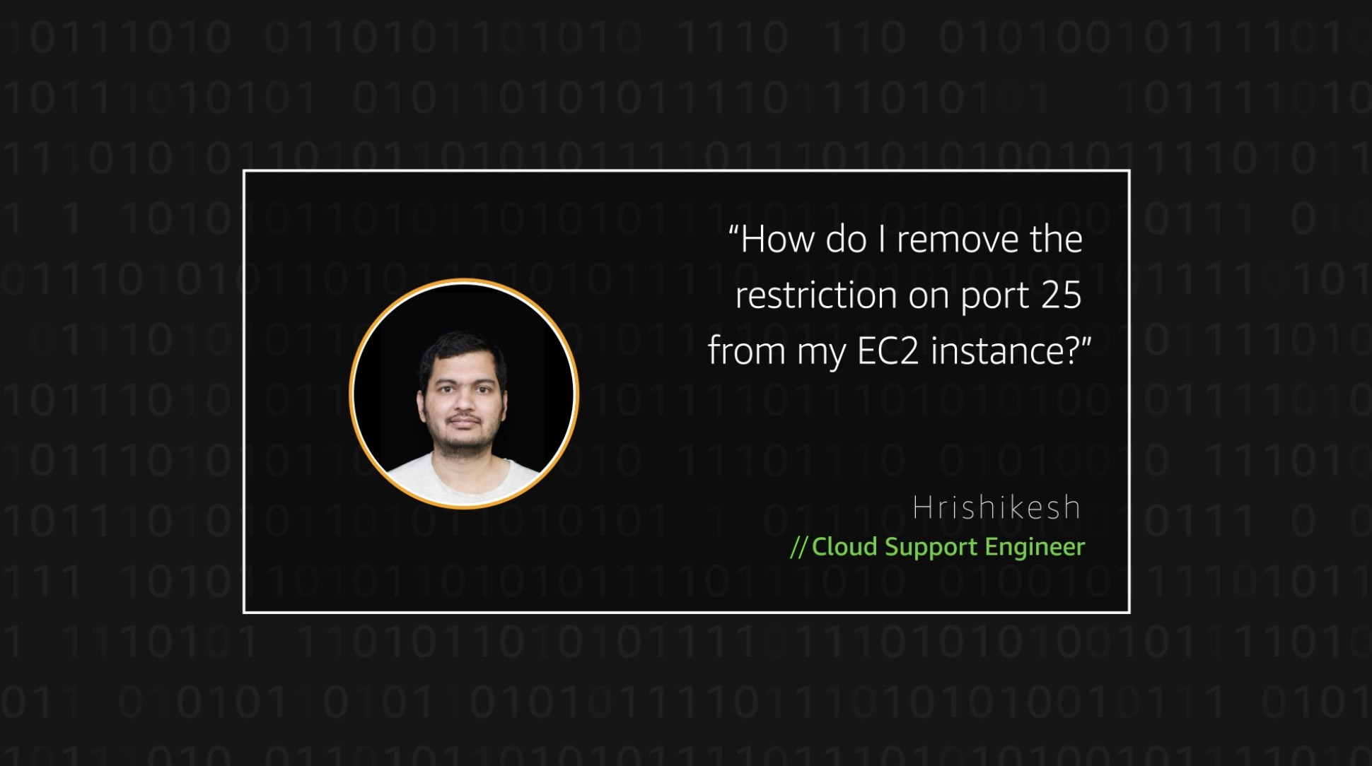 Watch Hrishikesh's video to learn more