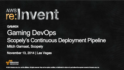 Gaming DevOps Scopely's Continuous Development Pipeline