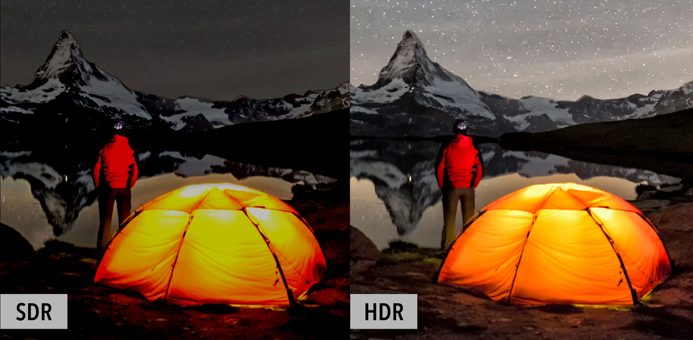 SDR and HDR comparison