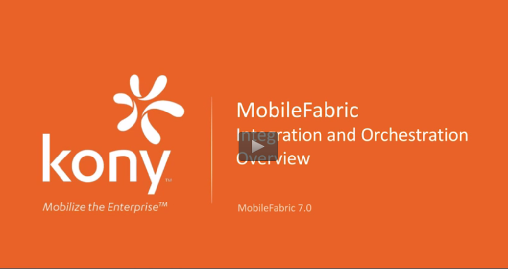Video Kony MobileFabric