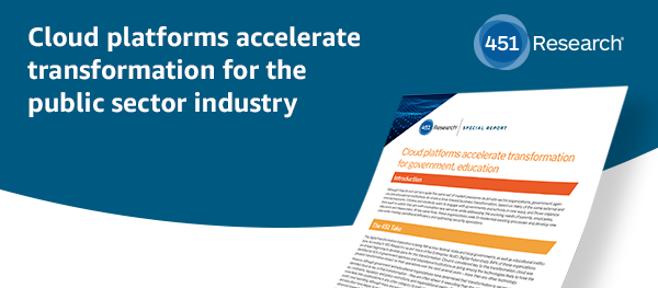 Cloud platforms accelerate transformation for the public sector industry
