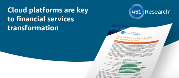 Cloud platforms are key to financial services transformation