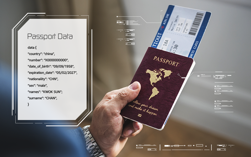 Passport data page detection