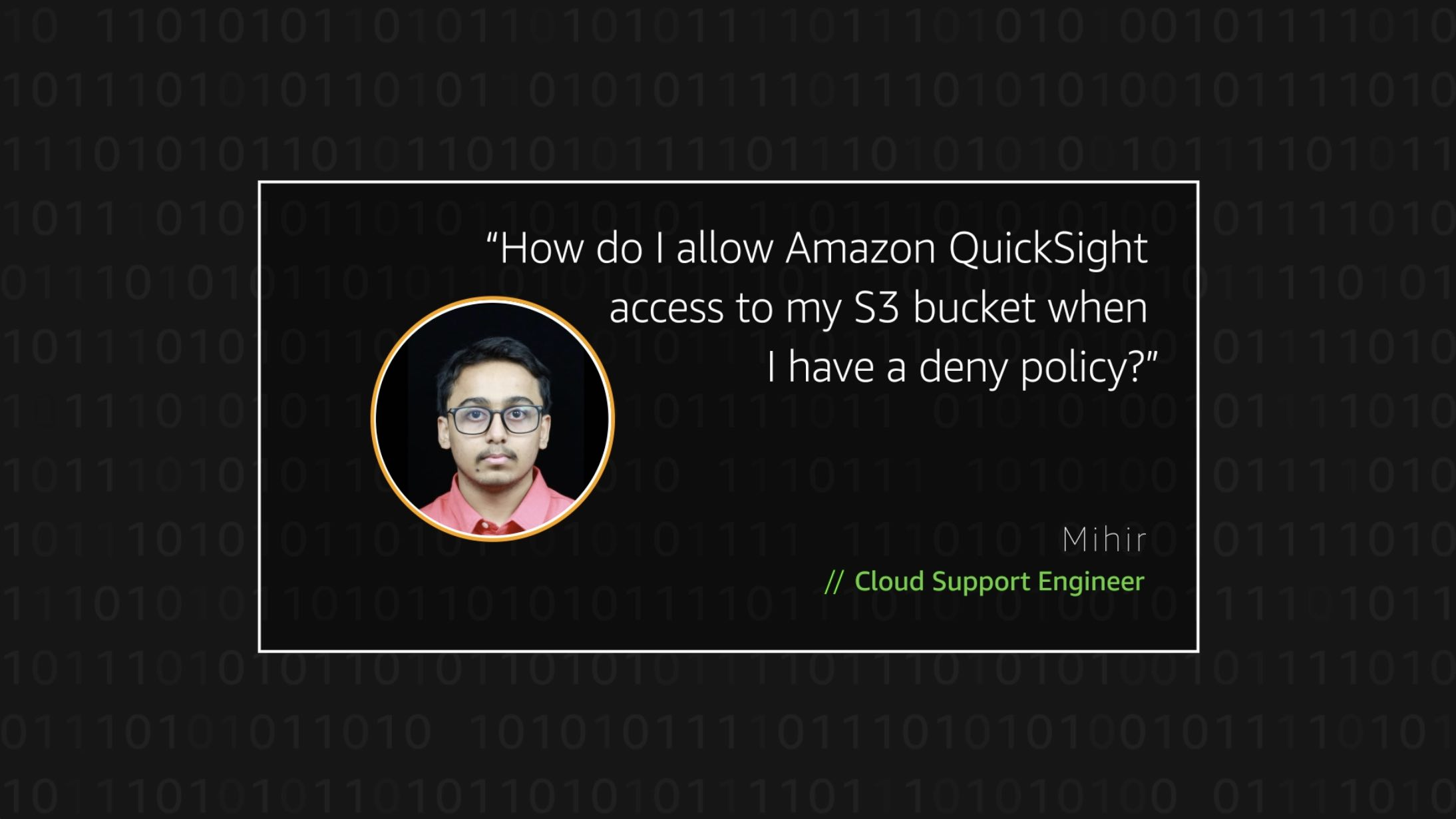 Watch Mihir's video to learn more