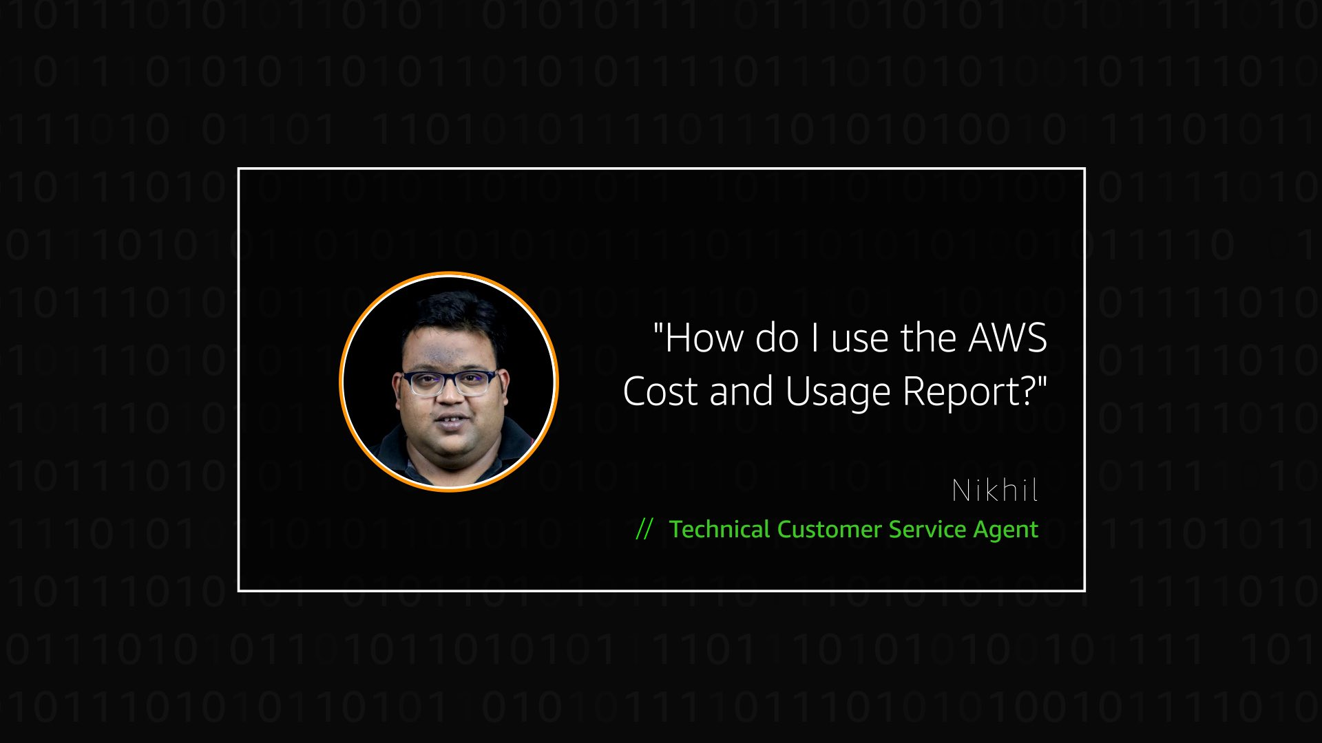 Watch Nikhil's video to learn more