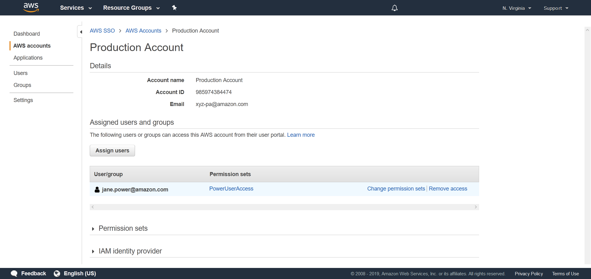 Manage SSO access for multiple AWS accounts