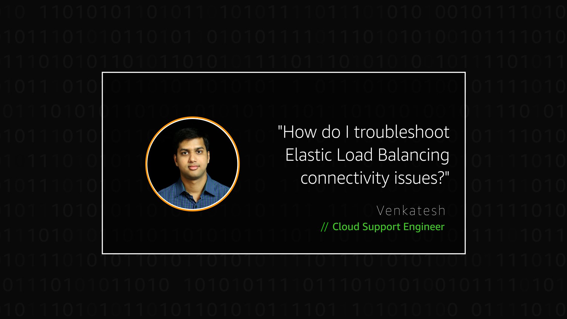 Watch Venkatesh's video to learn more