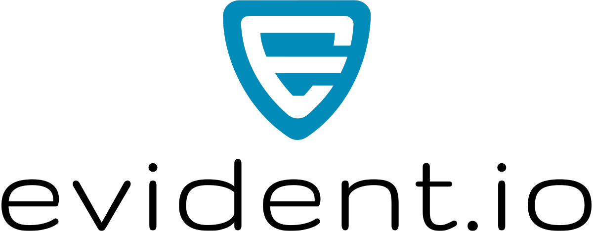 Evident-io_large_vertical_Blue_shield_Black_text