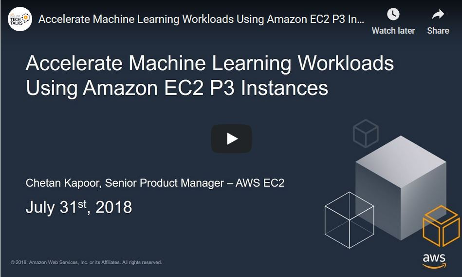 Amazon EC2 P3 – Ideal for Machine Learning and HPC - AWS