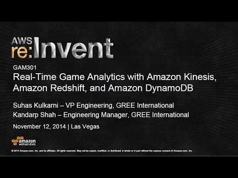 Real-Time Game Analytics with Amazon Kinesis, Redshift, and DynamoDB