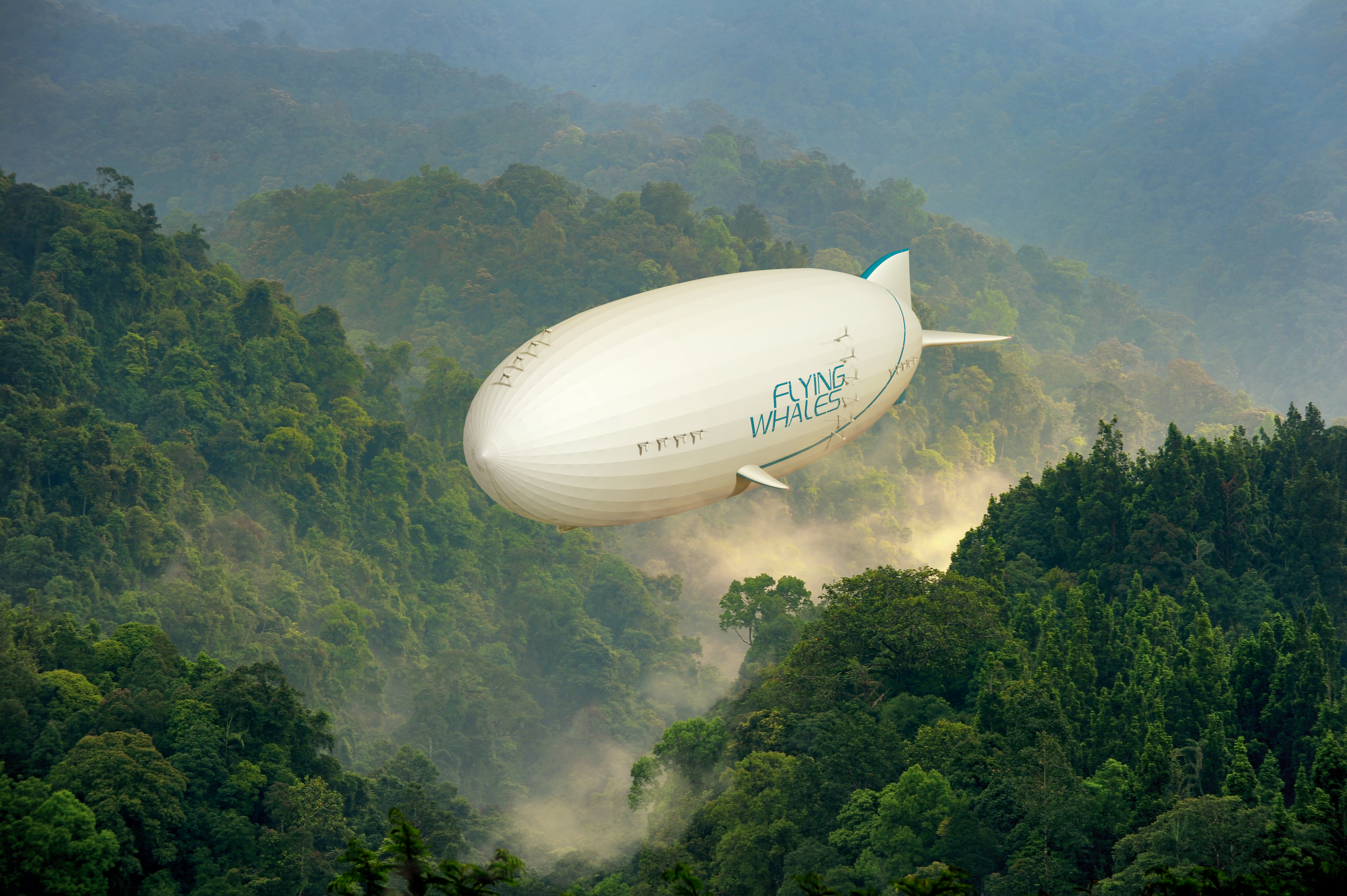 FLYING WHALES airship in flight