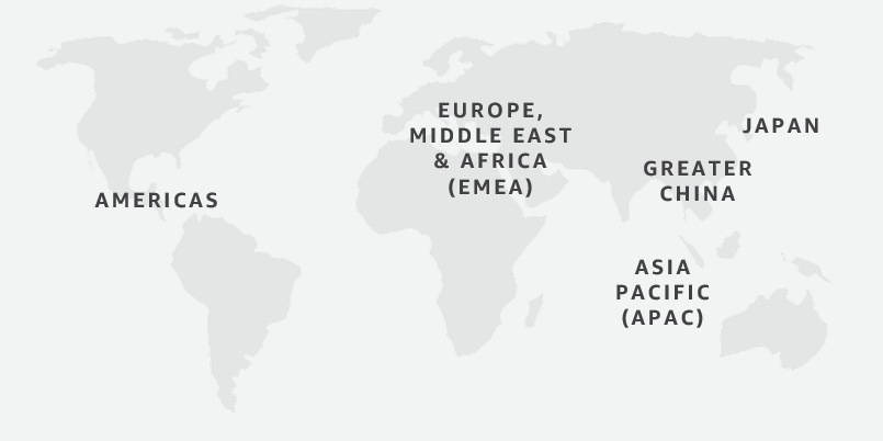 AWS Sponsorship Geographical Regions