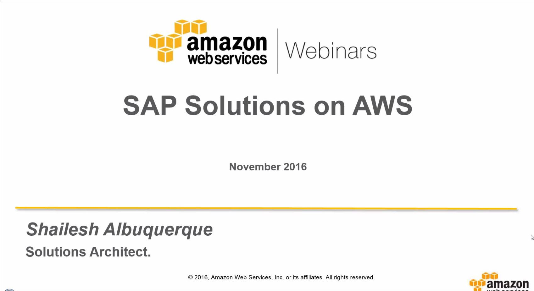 sap solution aws