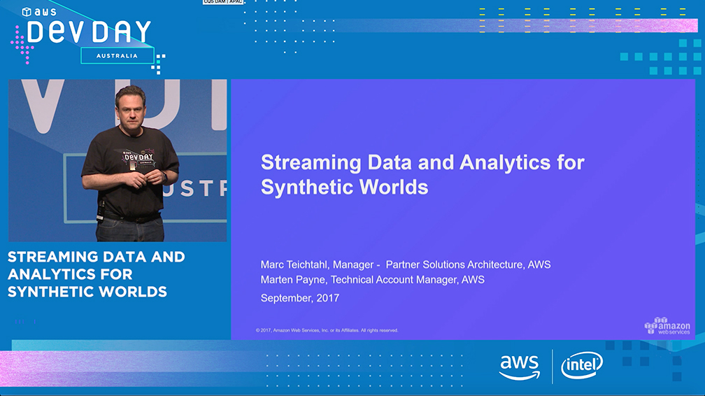 Streaming Data and Analytics for Synthetic Worlds