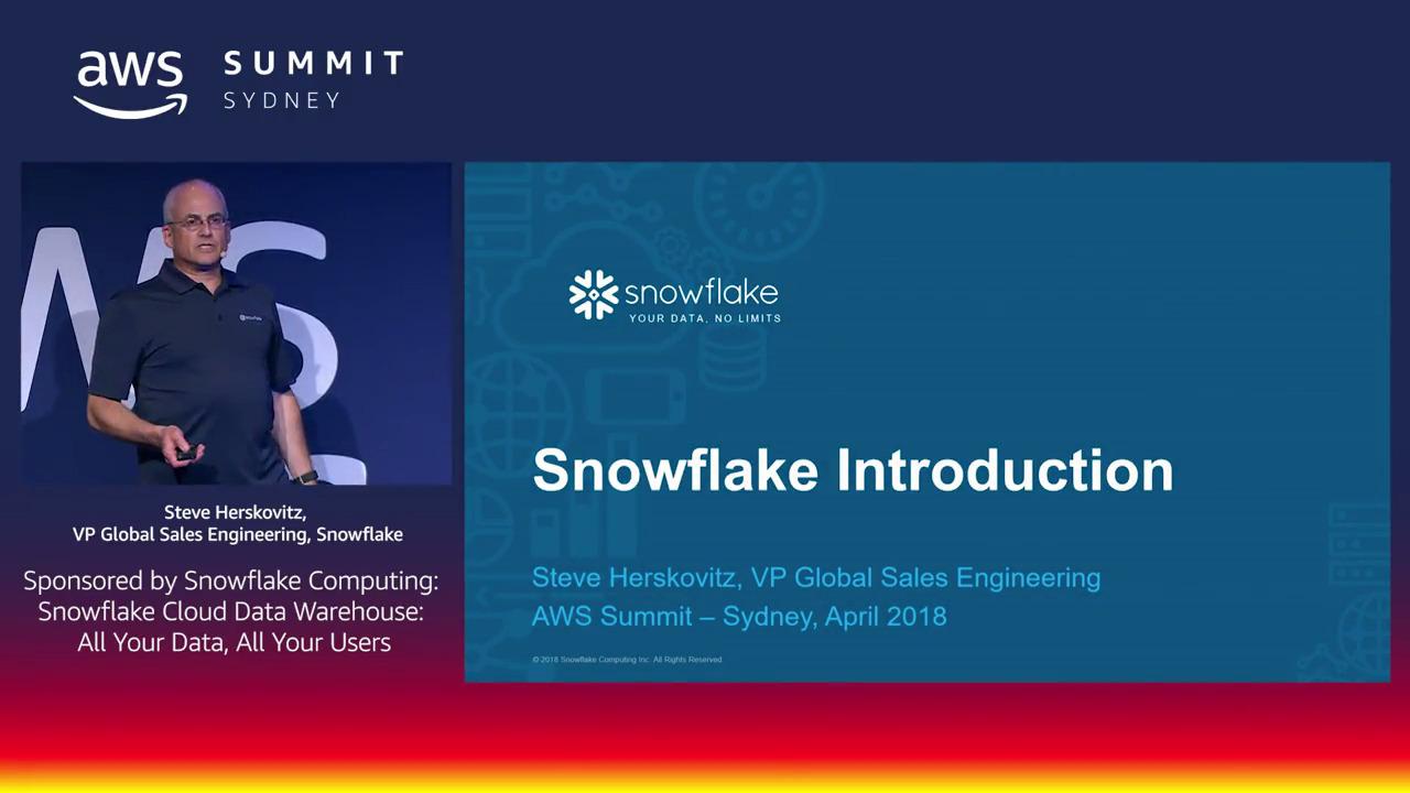 AWS Summit Sydney On-Demand 2018