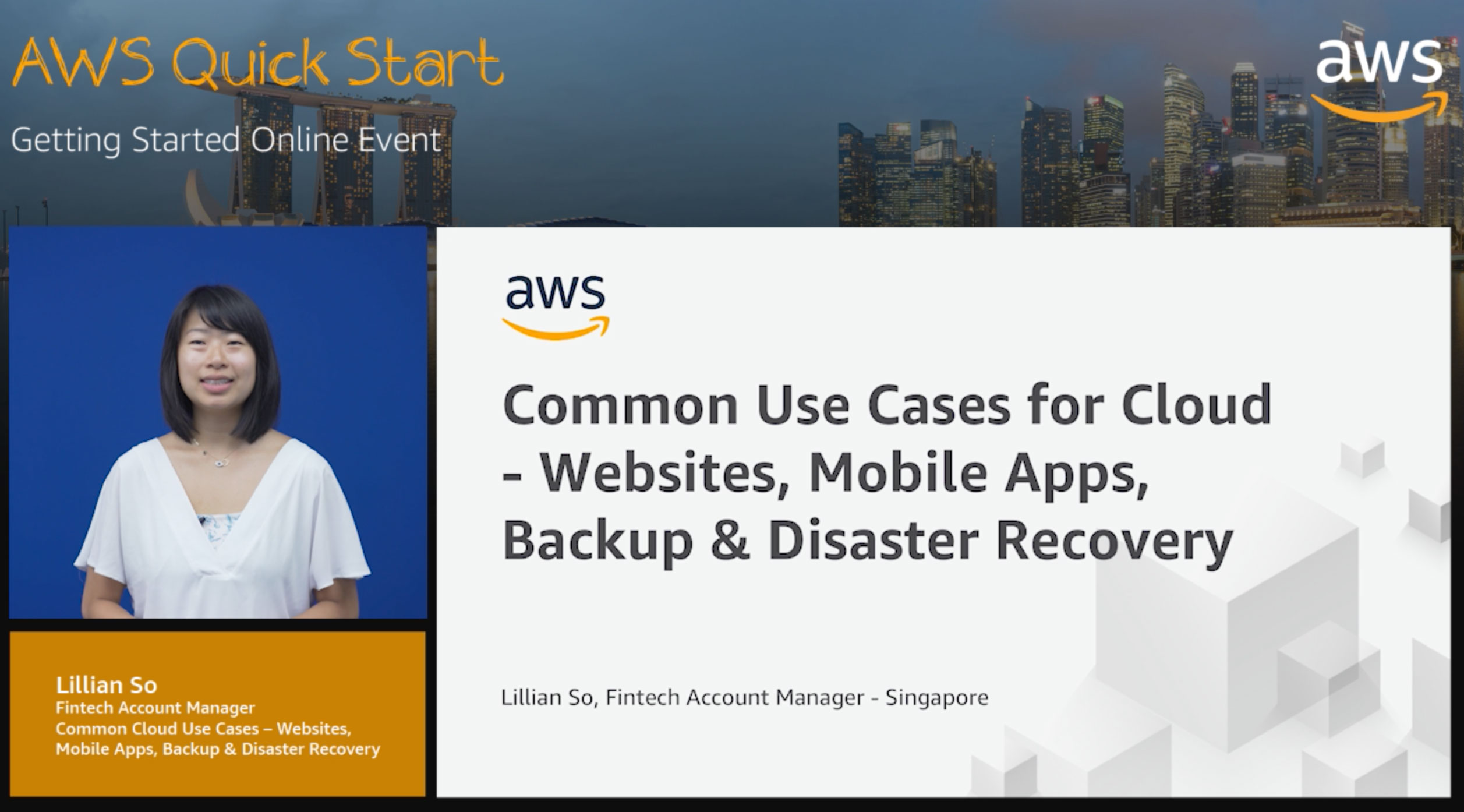 L100: Common Use Cases for Cloud - Websites, Mobile Apps, Backup & Disaster Recovery