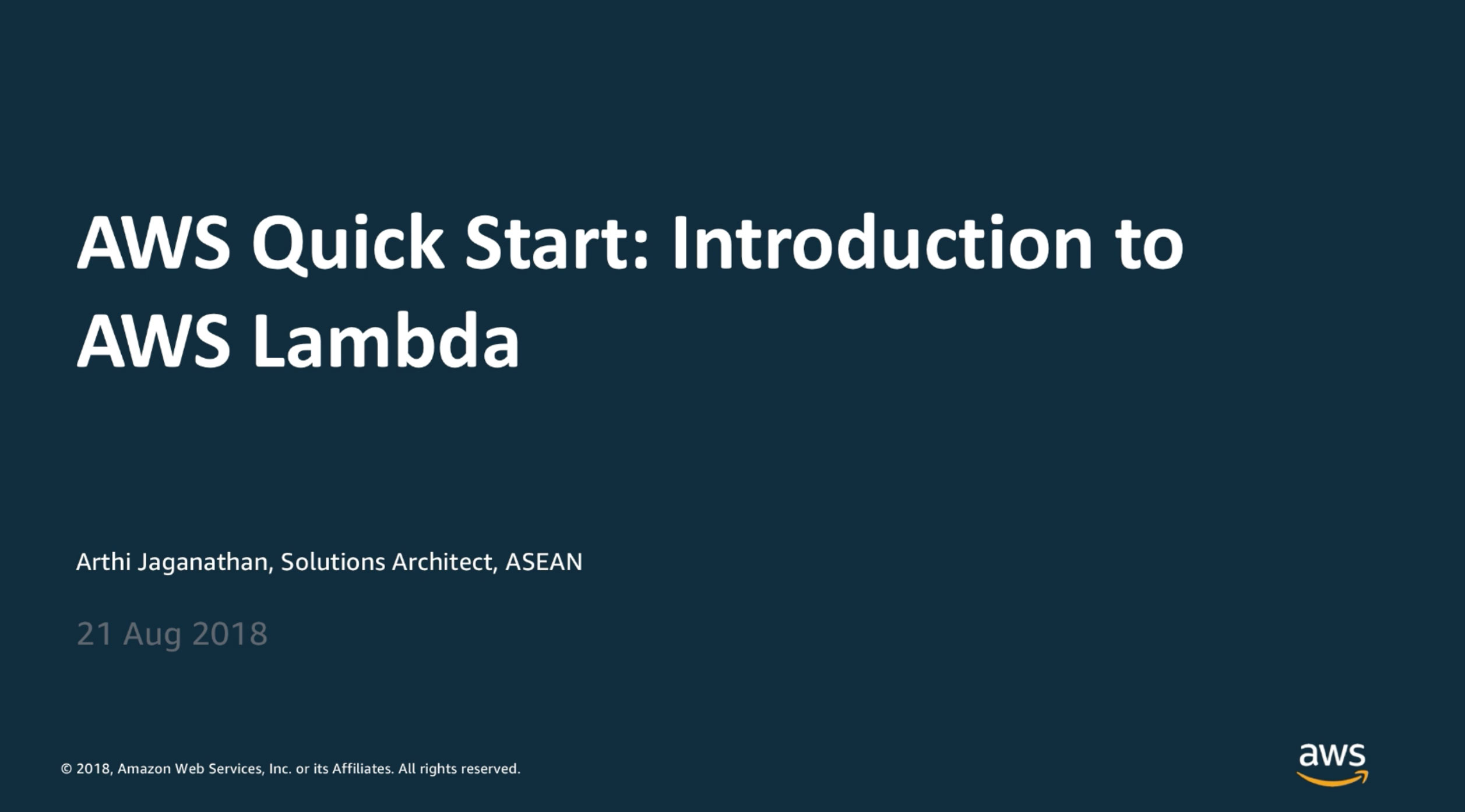 Guided Qwiklabs Workshop: Introduction to AWS Lambda