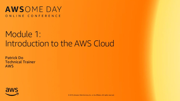 Module 1: Introduction to the AWS Cloud