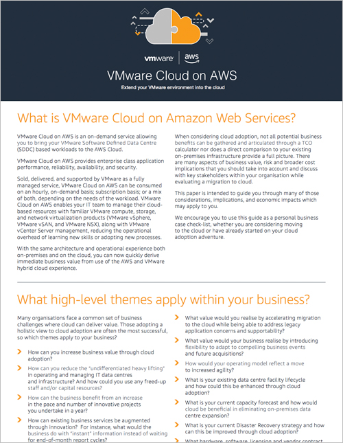 VMware Cloud on AWS: Extend your VMware Environment into the Cloud