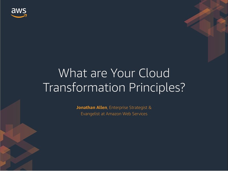 AWS Executive Insights Ebook: What are your Cloud Transformation Principles?