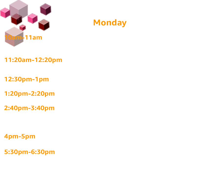 Monday Schedule for Dev Day sessions