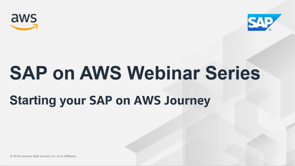 SAP on AWS