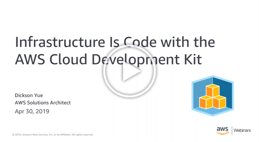 Infrastructure Is Code with the AWS Cloud Development Kit