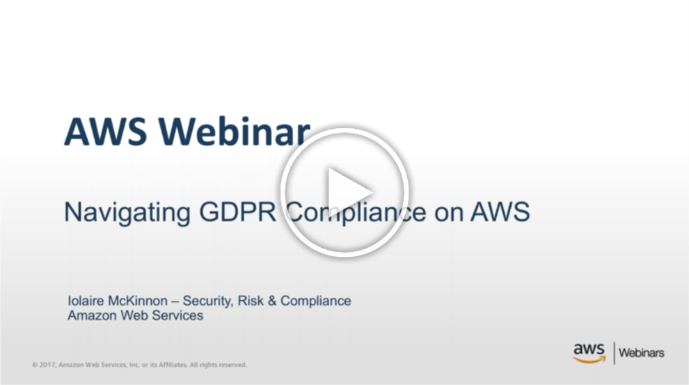 Navigating GDPR Compliance on AWS & Data Regulations in China