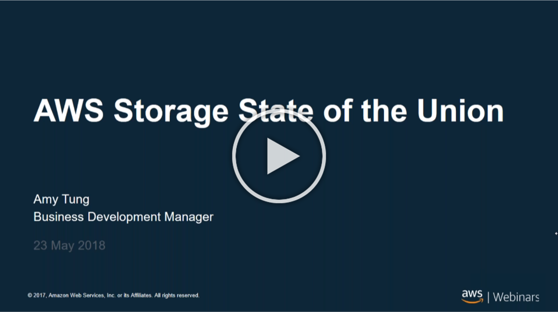 State of the Union AWS Storage