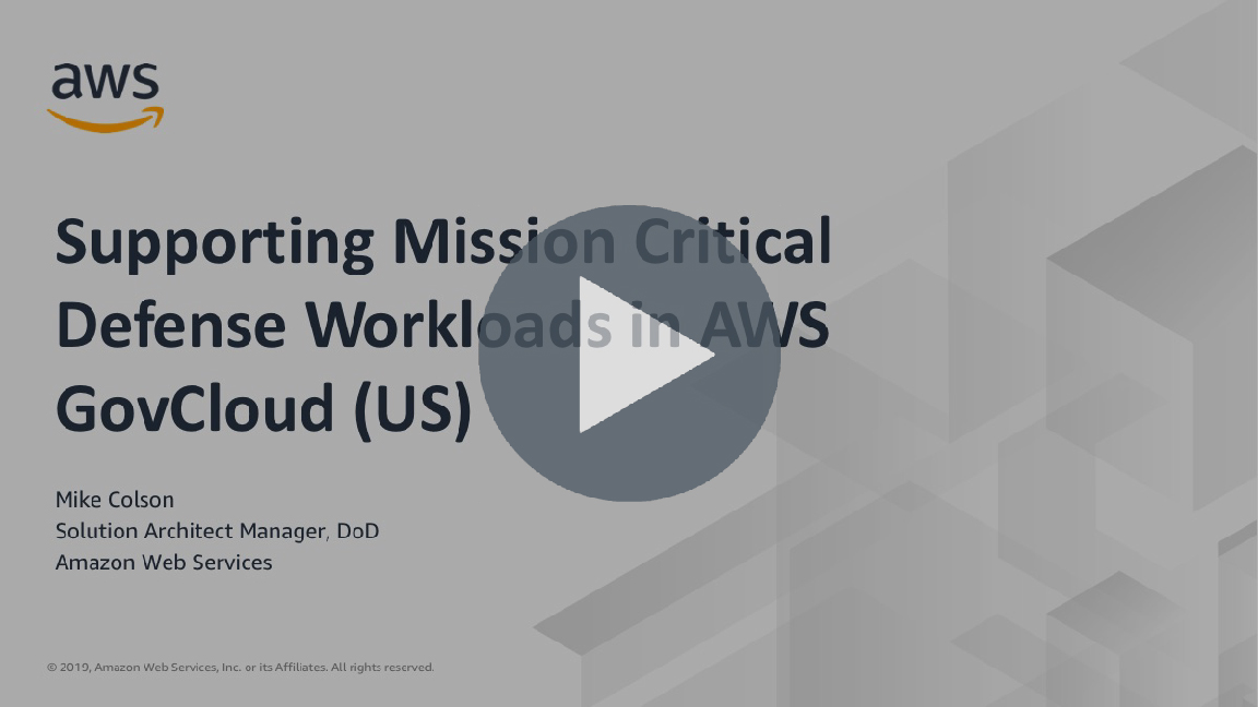 Supporting Mission-Critical Defense Workloads in AWS GovCloud (US)