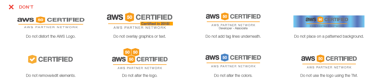 AWS certification don't use examples