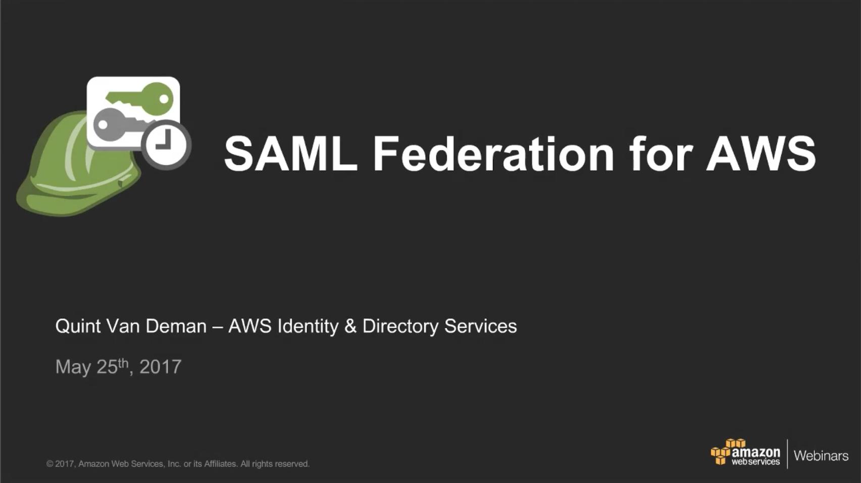 SAML – Amazon Web Services (AWS)