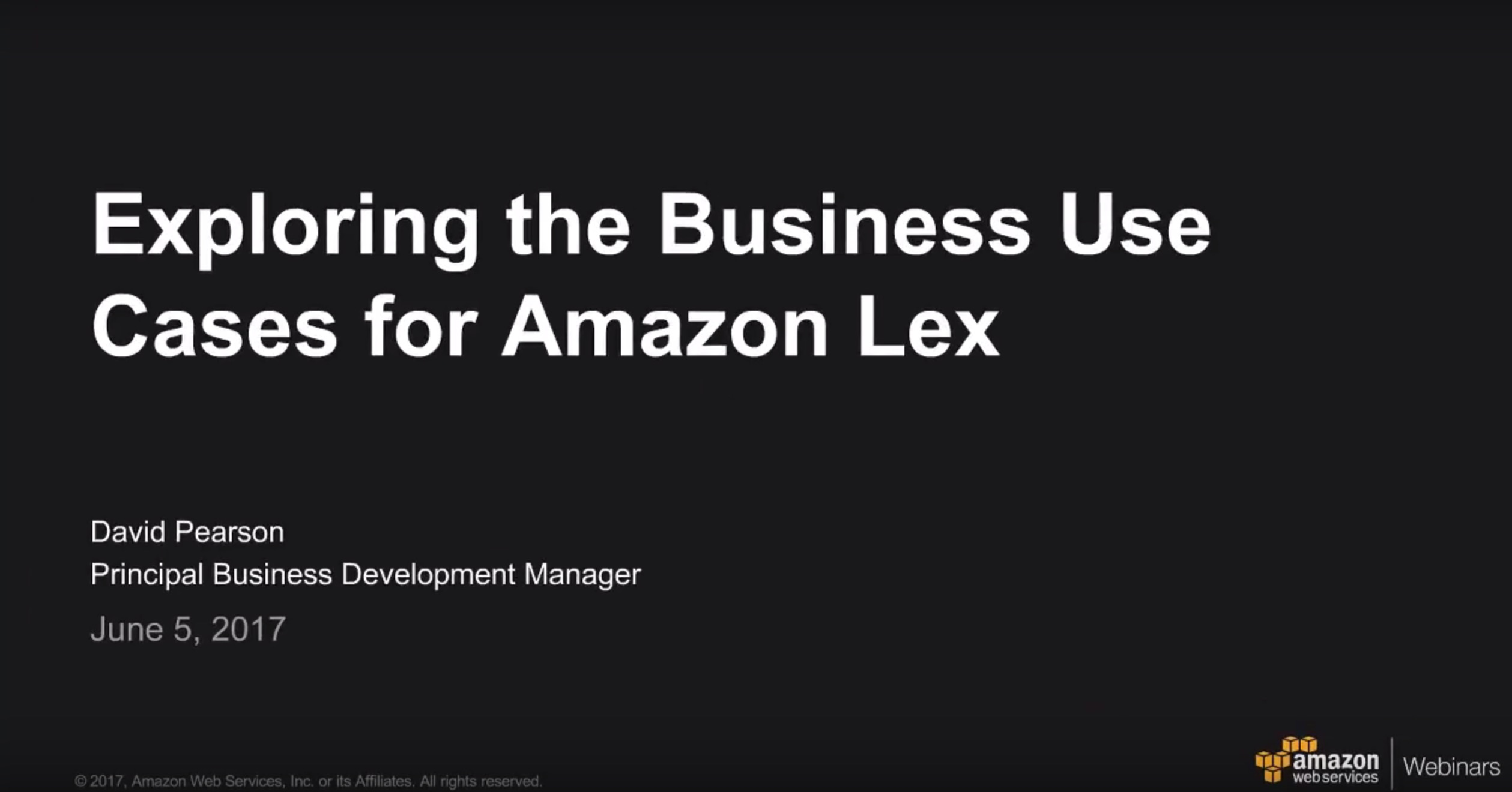Common Business Cases for Amazon Lex