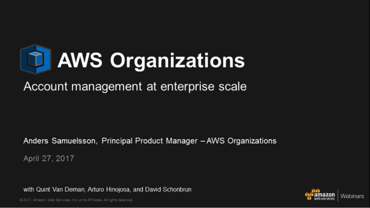 Aws organizations product details amazon web service aws awsorgsentwebinar fandeluxe Image collections