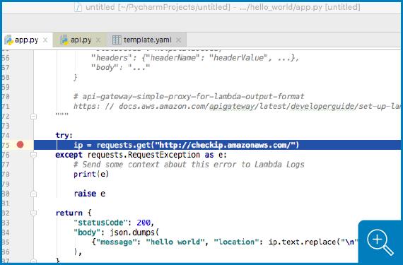 AWS Toolkit for PyCharm