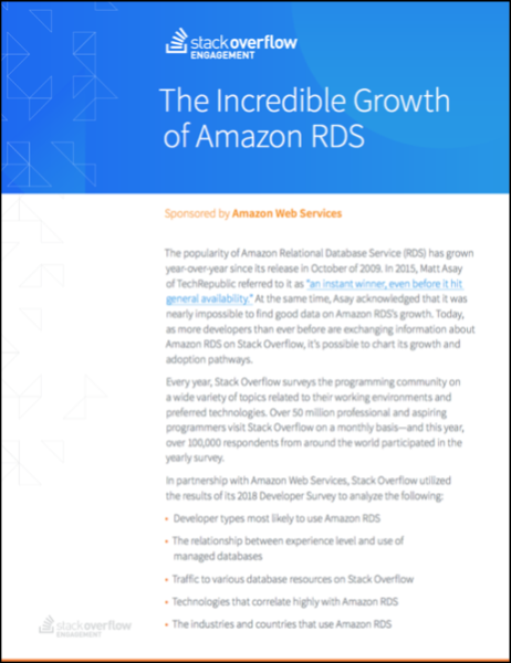 The Incredible Growth of Amazon RDS