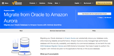 Migrate from Oracle to Amazon Aurora