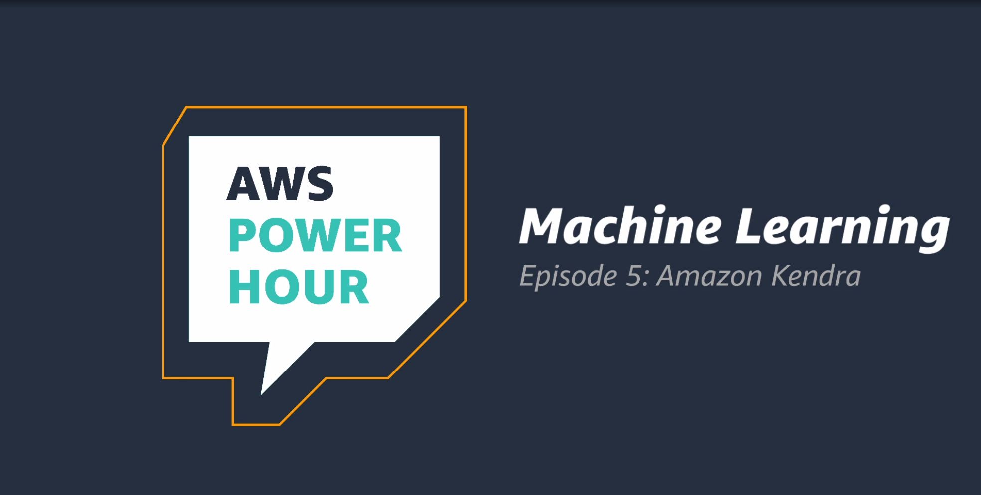 Twitch TV Machine Learning Power Hour  Amazon Kendra